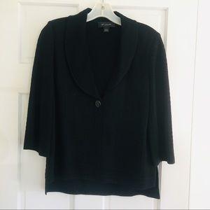 St. John Vintage Style Black Textured Blazer